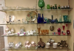 A large range of glass, china and ornaments