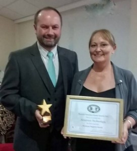Collecting the BVF Local Business Support Award 2015